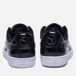 Женские кроссовки Puma Basket Heart Patent Black/Black/White фото- 3