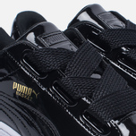 Женские кроссовки Puma Basket Heart Patent Black/Black/White фото- 5