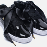 Женские кроссовки Puma Basket Heart Patent Black/Black/White фото- 6
