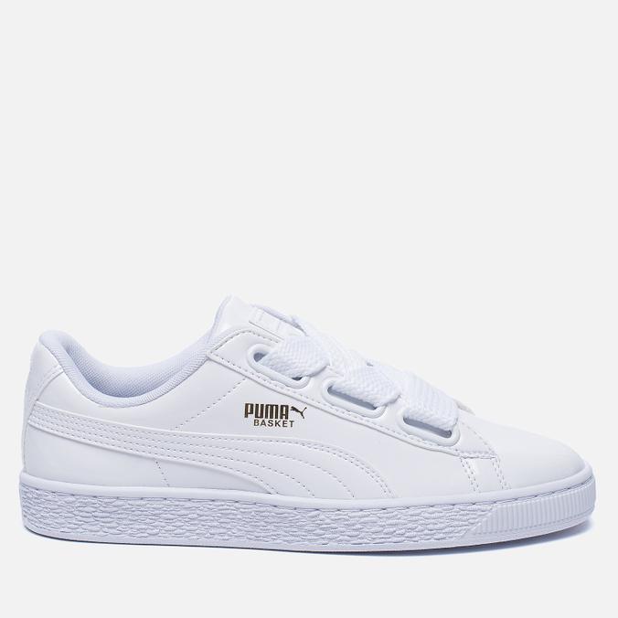 Женские кроссовки Puma Basket Heart Patent White/White