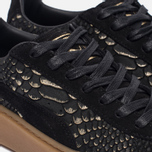Женские кроссовки Puma Basket Platform Exotic Skin Black/Gold фото- 5