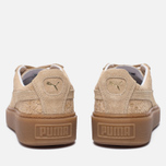 Женские кроссовки Puma Basket Platform Exotic Skin Natural Vachetta/Gold фото- 3