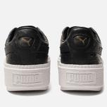 Женские кроссовки Puma Basket Platform Trace Ostrich Black/White фото- 3