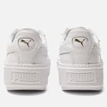 Женские кроссовки Puma Basket Platform Trace Ostrich White/White фото- 3
