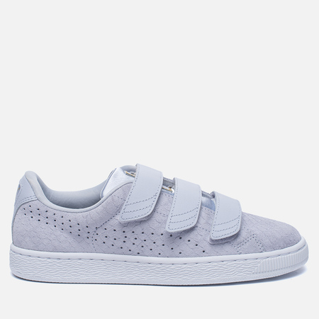 Женские кроссовки Puma Basket Strap Exotic Skin Halogen Blue