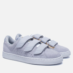 Женские кроссовки Puma Basket Strap Exotic Skin Halogen Blue фото- 2