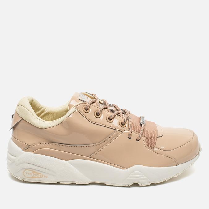 Puma R698 Women's Sneakers Patent Nude Natural Vachetta