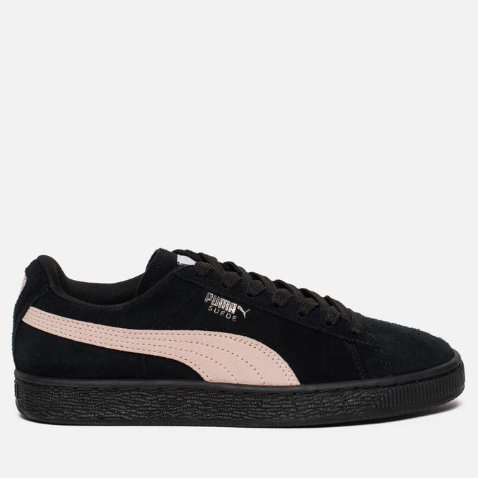 7a33ce97 Женские кроссовки Puma Suede Classic Black/Pearl Pink 355462-66
