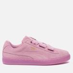 Женские кроссовки Puma Suede Heart Reset Prism Pink/Prism Pink фото- 0