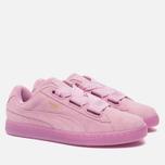 Женские кроссовки Puma Suede Heart Reset Prism Pink/Prism Pink фото- 1