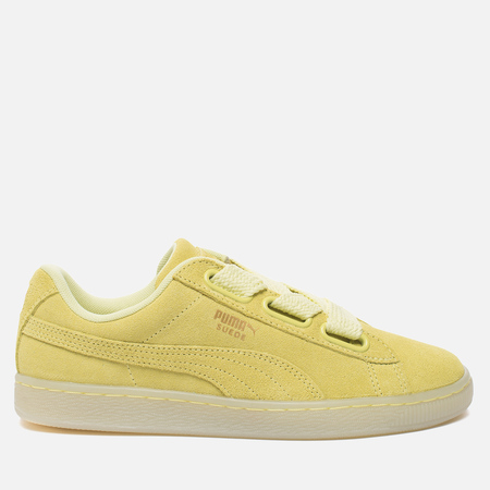 Женские кроссовки Puma Suede Heart Reset Soft Fluo Yellow/Soft Fluo Yellow