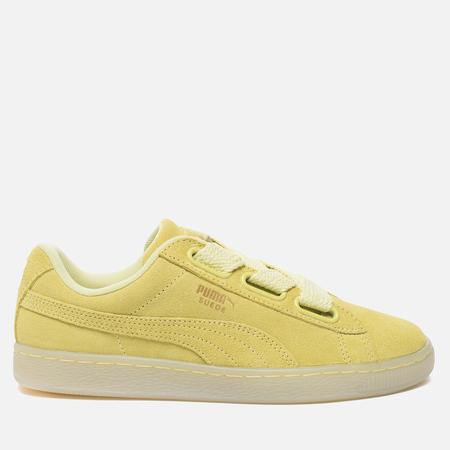 Женские кроссовки Puma Suede Heart Reset Soft Fluo Yellow/Soft Fluo Yellow