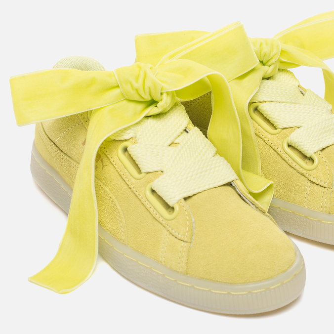 new product a3eb3 8a8e2 Женские кроссовки Puma Suede Heart Reset Soft Fluo Yellow ...