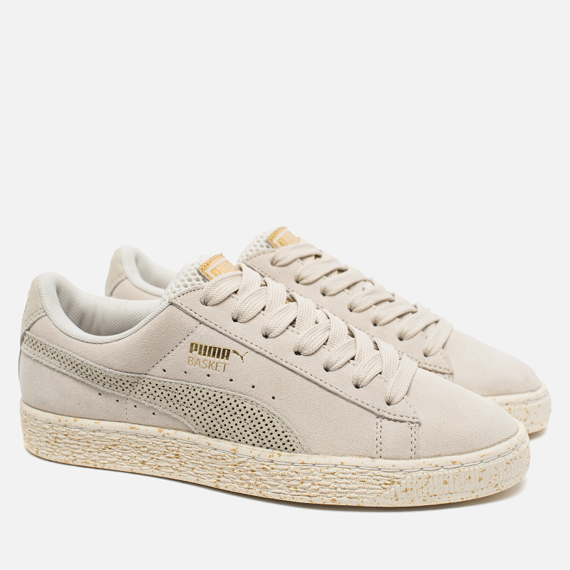 PUMA × Careaux Suede Basket Whisper White