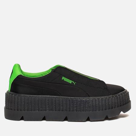 Женские кроссовки Puma x Rihanna Fenty Cleated Creeper Black/Green
