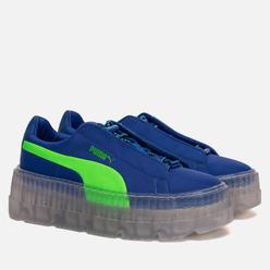 Женские кроссовки Puma x Rihanna Fenty Cleated Creeper Dazzling Blue