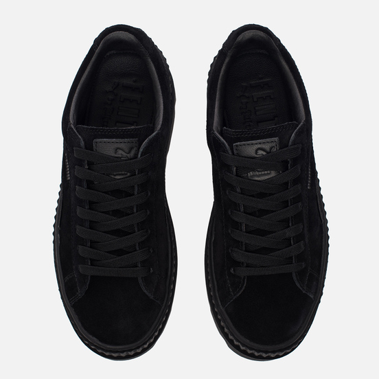 Женские кроссовки Puma x Rihanna Fenty Cleated Creeper Suede Black
