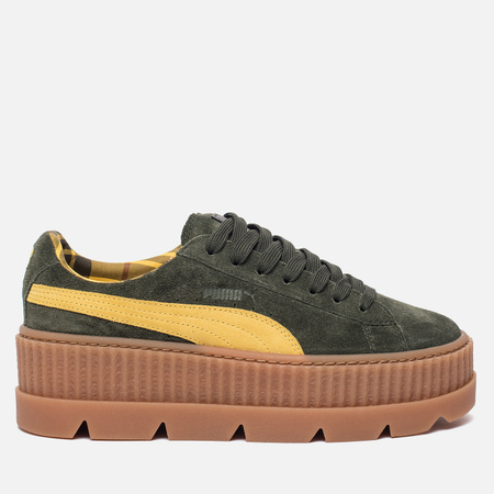 Женские кроссовки Puma x Rihanna Fenty Cleated Creeper Suede Rosin/Lemon/Vanilla Ice