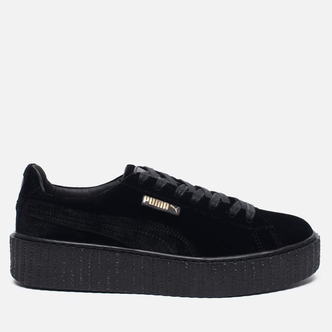 Женские кроссовки Puma x Rihanna Fenty Creeper Velvet Black/Black