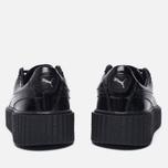 Женские кроссовки Puma x Rihanna Fenty Creeper Wrinkled Patent Triple Black фото- 5