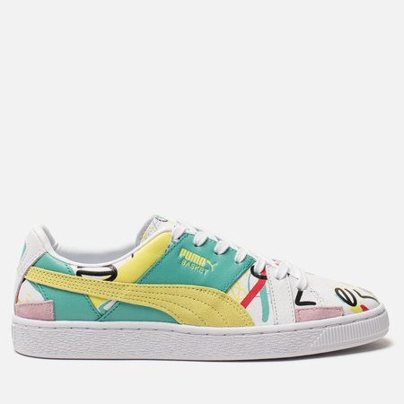 Женские кроссовки Puma x Shantell Martin Basket Graphic White Sunny Lime bd379baf5a0