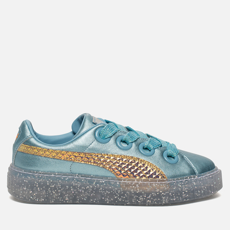 Женские кроссовки Puma x Sophia Webster Platform Glitter Princess Metallic Blue/Fluo Orange