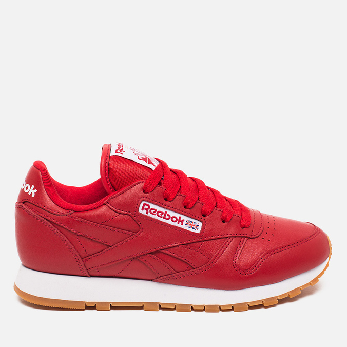 Женские кроссовки Reebok Classic Leather Scarlet/White/Gum