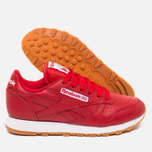 Женские кроссовки Reebok Classic Leather Scarlet/White/Gum фото- 2