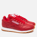 Женские кроссовки Reebok Classic Leather Scarlet/White/Gum фото- 1