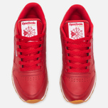 Женские кроссовки Reebok Classic Leather Scarlet/White/Gum фото- 4