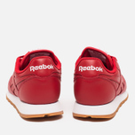 Женские кроссовки Reebok Classic Leather Scarlet/White/Gum фото- 3