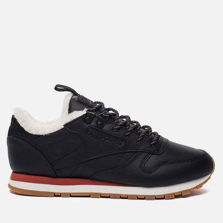 Женские кроссовки Reebok Classic Leather Arctic Black/Burnt Amber/Chalk Gum
