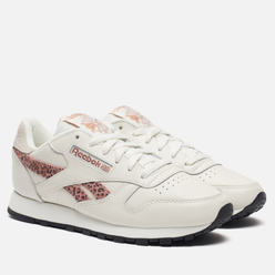 Женские кроссовки Reebok Classic Leather Chalk/Black/Rose Gold