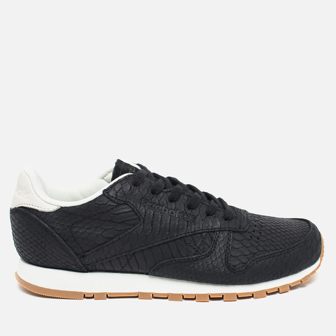 Женские кроссовки Reebok Classic Leather Clean Exotics Black/Chalk