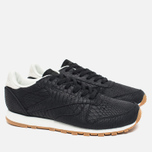 Reebok Classic Leather Clean Women's Sneakers Exotics Black/Chalk photo- 1