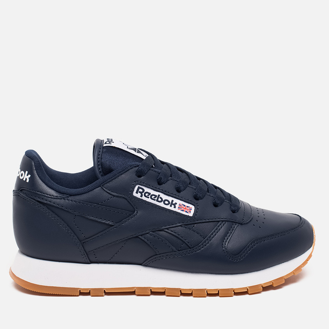Женские кроссовки Reebok Classic Leather Collegiate Navy/White/Gum
