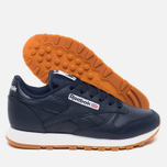 Женские кроссовки Reebok Classic Leather Collegiate Navy/White/Gum фото- 2