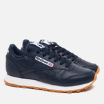 Женские кроссовки Reebok Classic Leather Collegiate Navy/White/Gum фото- 1