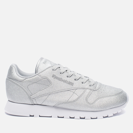 Женские кроссовки Reebok Classic Leather Diamond Silver Metallic/Snow Grey/White