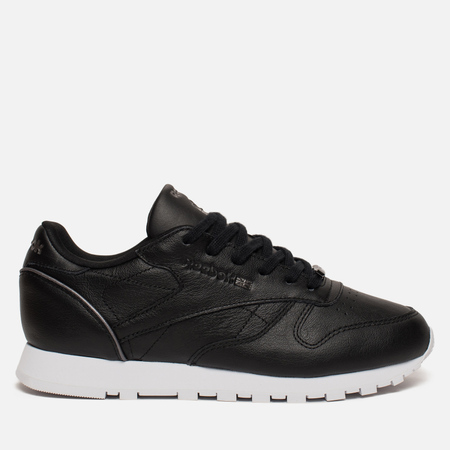 Женские кроссовки Reebok Classic Leather HW Black/Silver Metallic/White