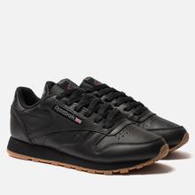 Женские кроссовки Reebok Classic Leather Intense Black/Gum фото- 0