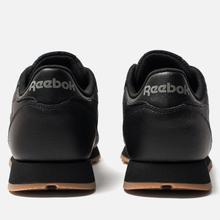Женские кроссовки Reebok Classic Leather Intense Black/Gum фото- 2