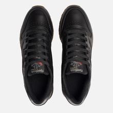 Женские кроссовки Reebok Classic Leather Intense Black/Gum фото- 1