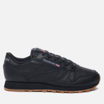 Женские кроссовки Reebok Classic Leather Intense Black/Gum фото- 0