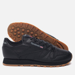 Женские кроссовки Reebok Classic Leather Intense Black/Gum фото- 2