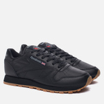 Женские кроссовки Reebok Classic Leather Intense Black/Gum фото- 1