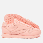 Женские кроссовки Reebok Classic Leather Lux Grapefruit-Peach Twist/Sleek Met фото- 2