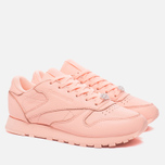 Женские кроссовки Reebok Classic Leather Lux Grapefruit-Peach Twist/Sleek Met фото- 1