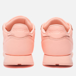 Женские кроссовки Reebok Classic Leather Lux Grapefruit-Peach Twist/Sleek Met фото- 3
