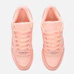 Женские кроссовки Reebok Classic Leather Lux Grapefruit-Peach Twist/Sleek Met фото- 4